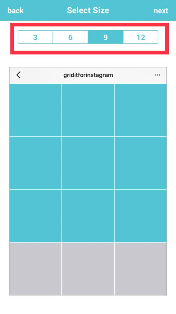 Instagramグリッド投稿